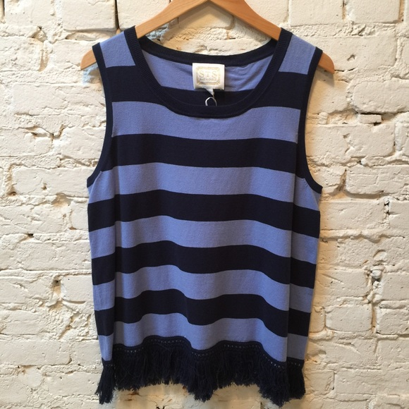 32a99bc31f Sail to Sable Tops | Striped Knit Fringe Tank Top | Poshmark